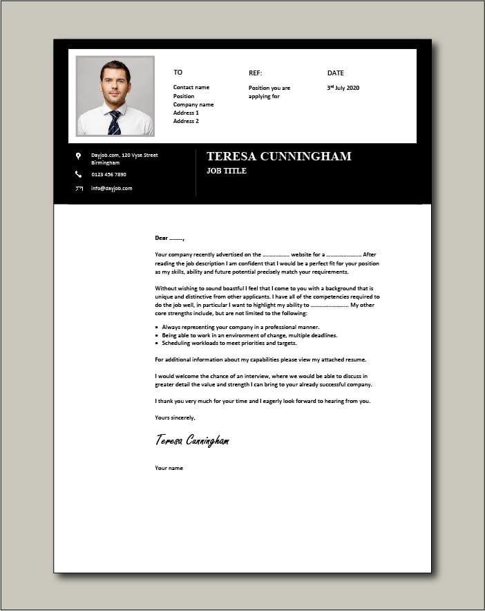 CV template 54 - Cover letter