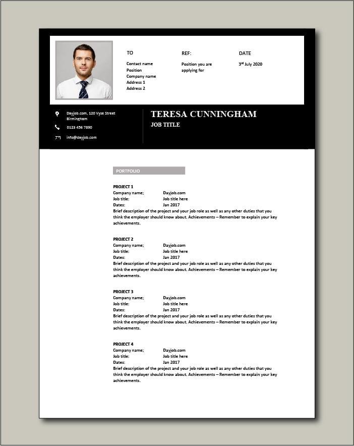 CV template 54 - Portfolio
