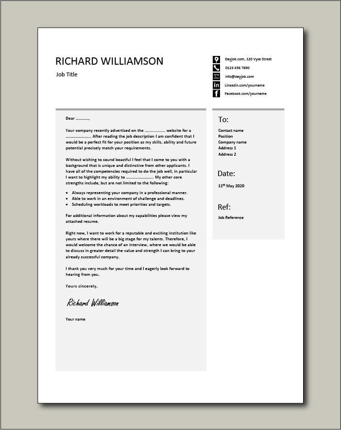 CV template 55 - Cover letter