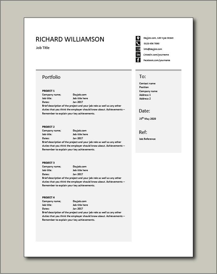 CV template 55 - Portfolio
