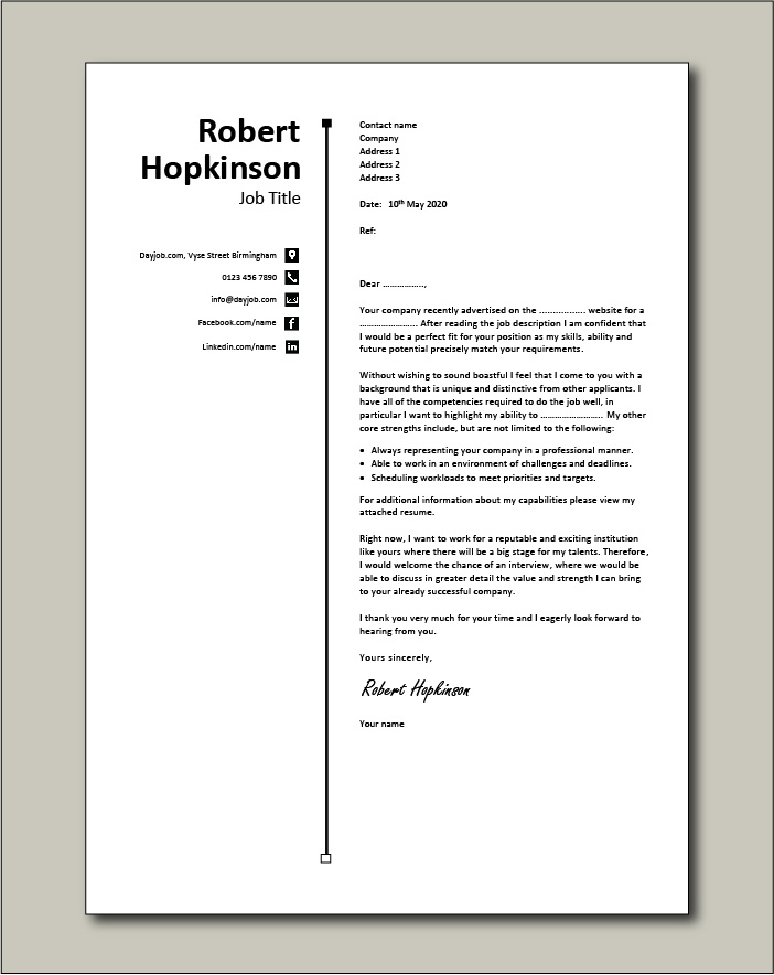 free cover letter example 55