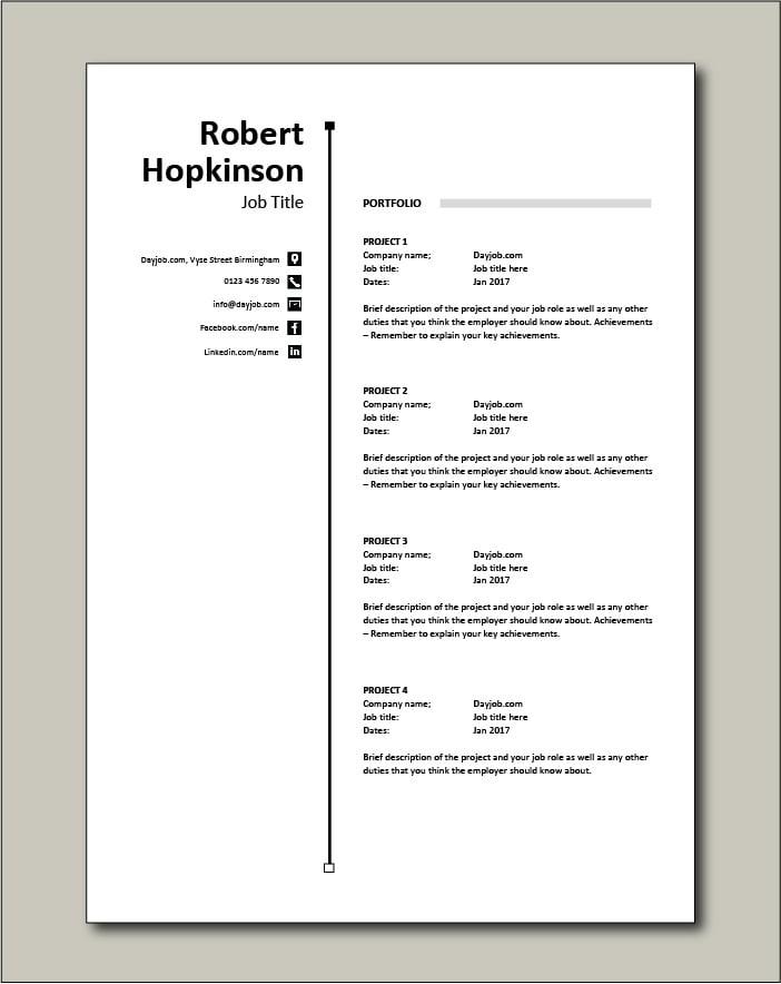 CV template 56 - Portfolio