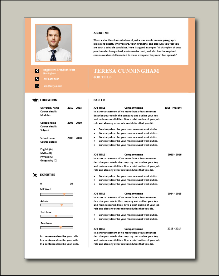 CV template 57 - 1 page