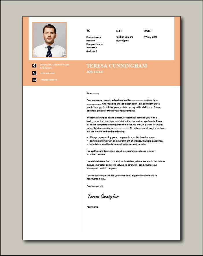 CV template 57 - Cover letter