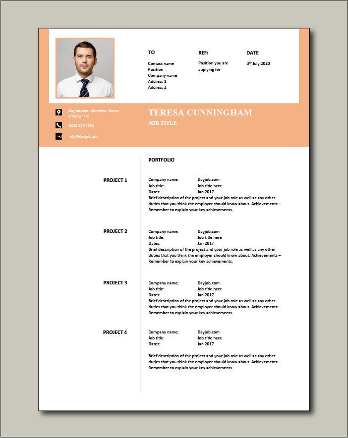 CV template 57 - Portfolio