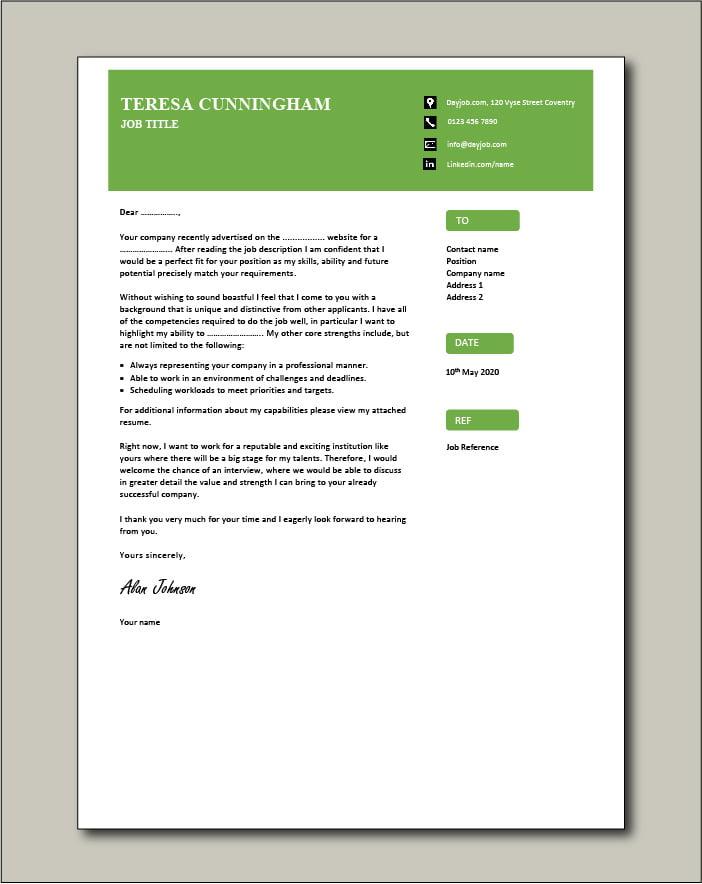 CV template 58 - Cover letter