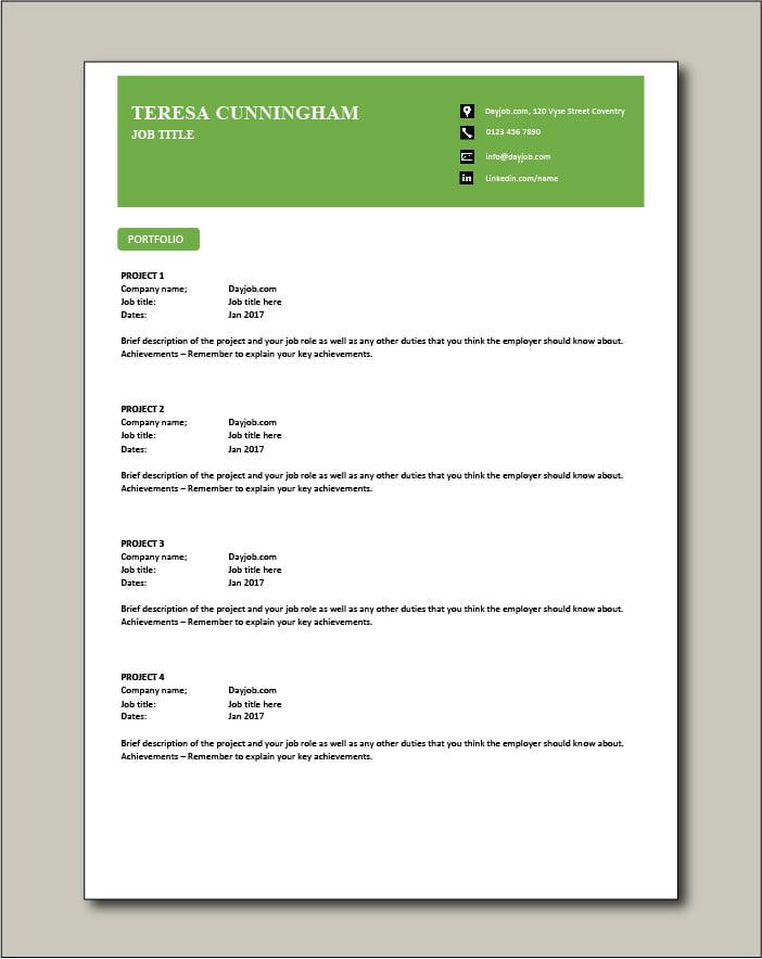 CV template 58 - Portfolio