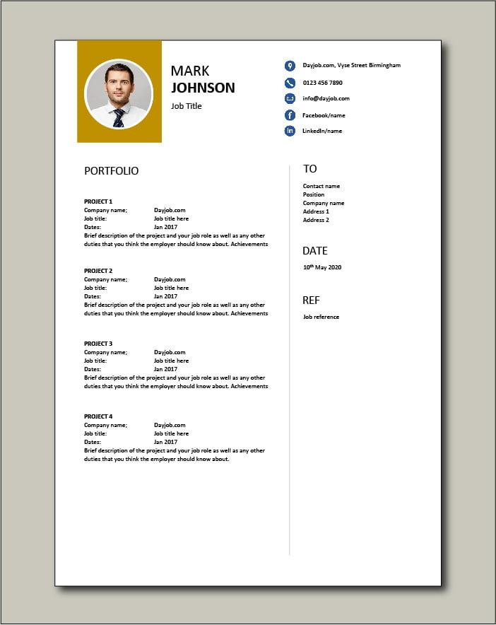 CV template 61 Portfolio