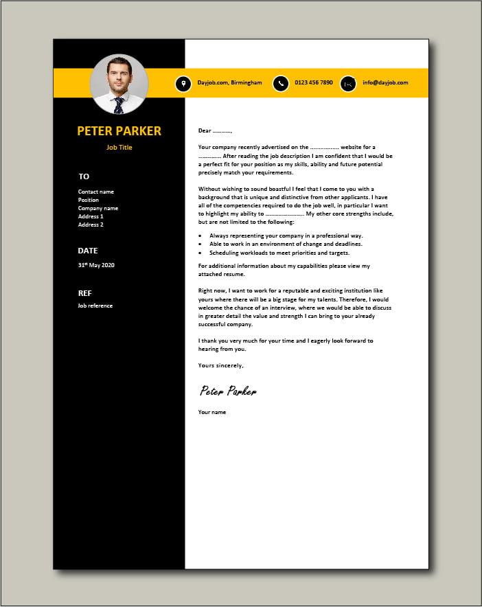 CV template 62 - Cover letter