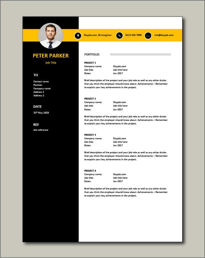 CV template 62 - Portfolio