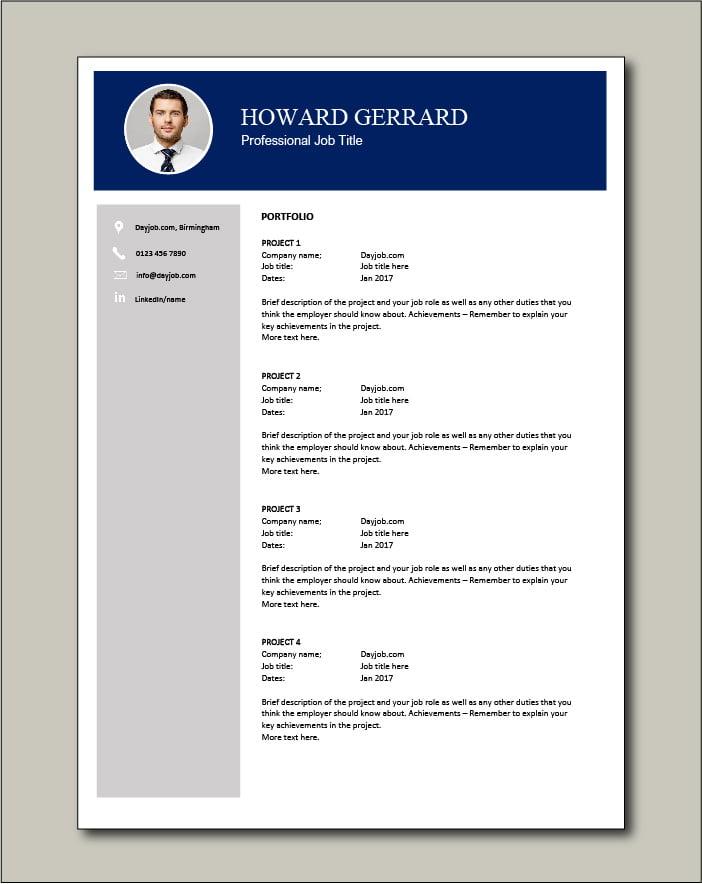 CV template 64 - Portfolio