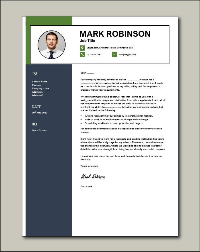 CV template 66 - Cover letter