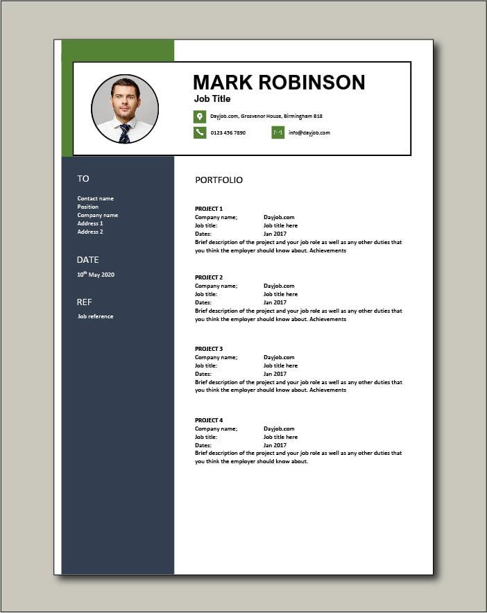 CV template 66 - Portfolio