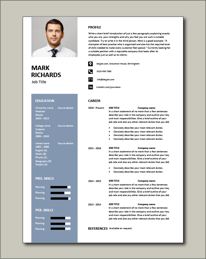 CV template 67 - 1 page