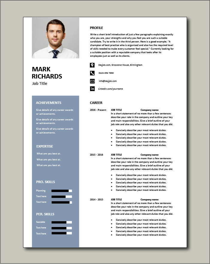 CV template 67 - 2 page