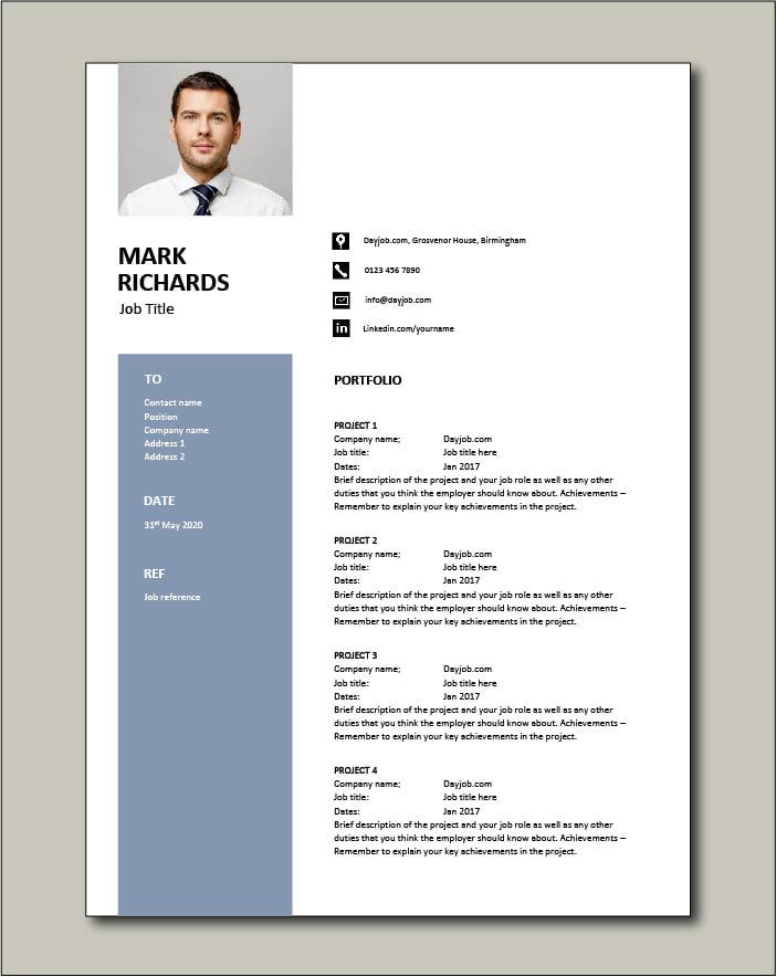 CV template 67 - Portfolio