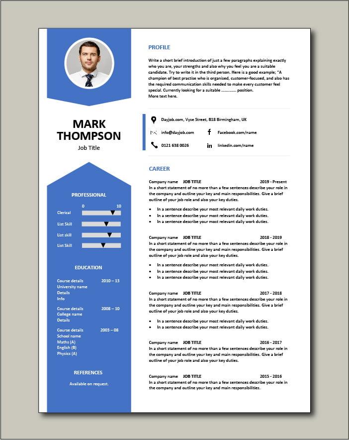 Free CV template 43