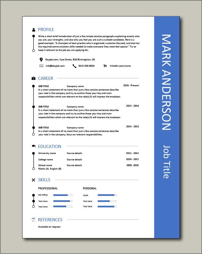 Free CV template 44