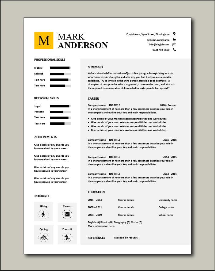 Free CV template 45