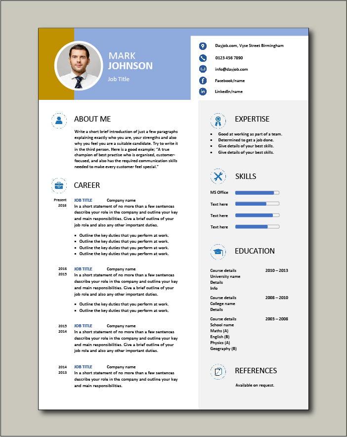 Free CV template 46