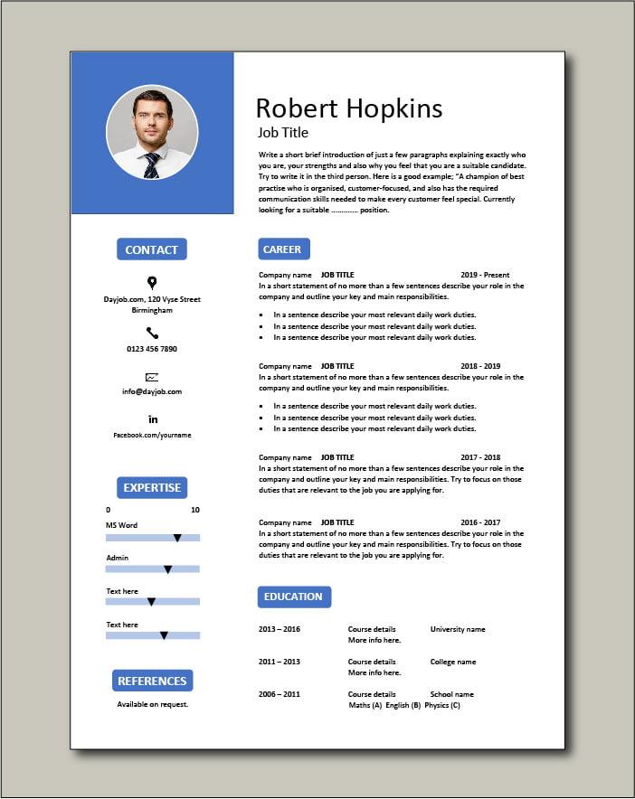 Free CV template 53