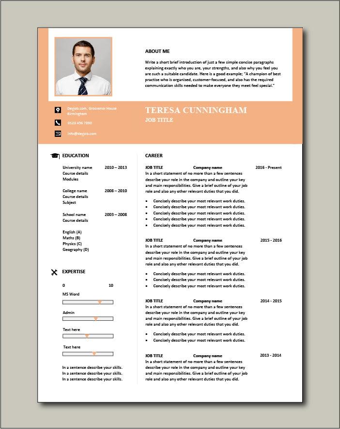 Free CV template 57