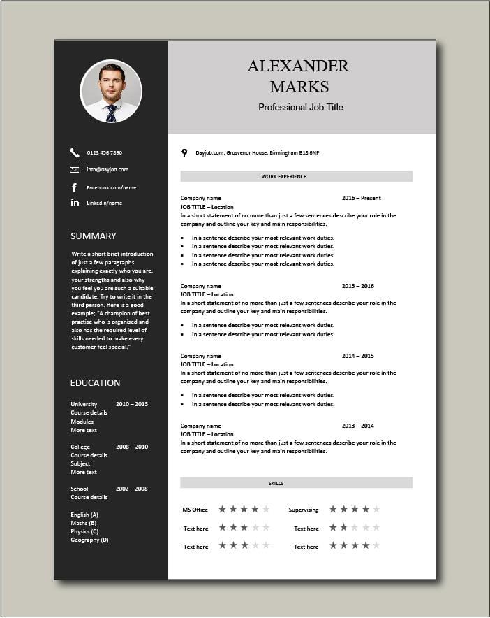 Free CV template 60