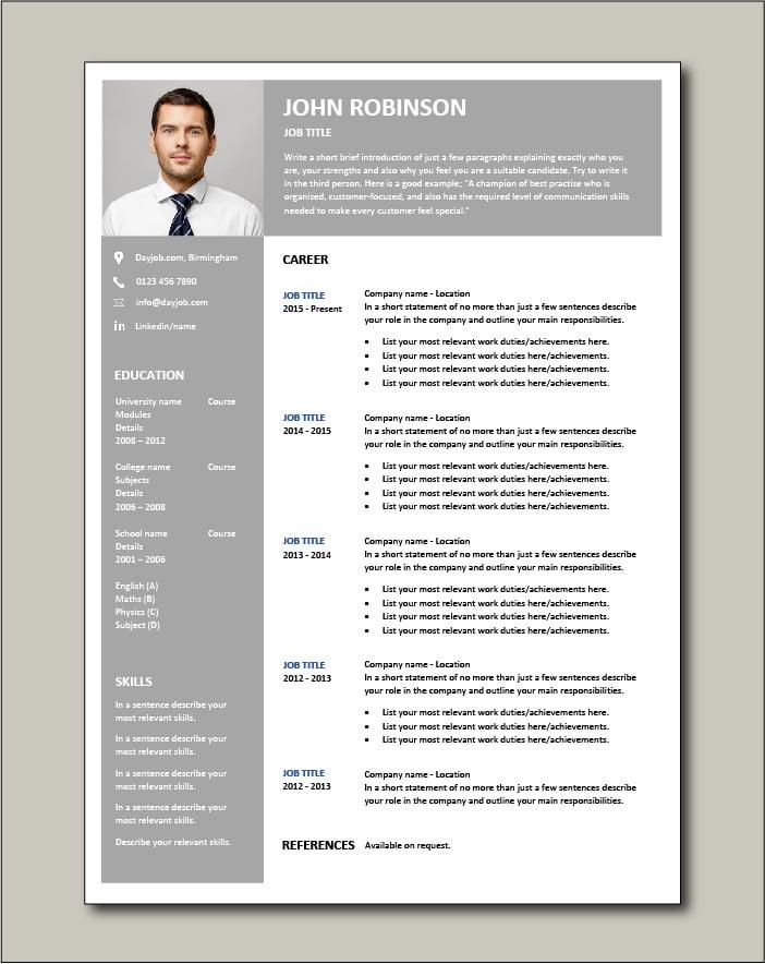 Free CV template 65