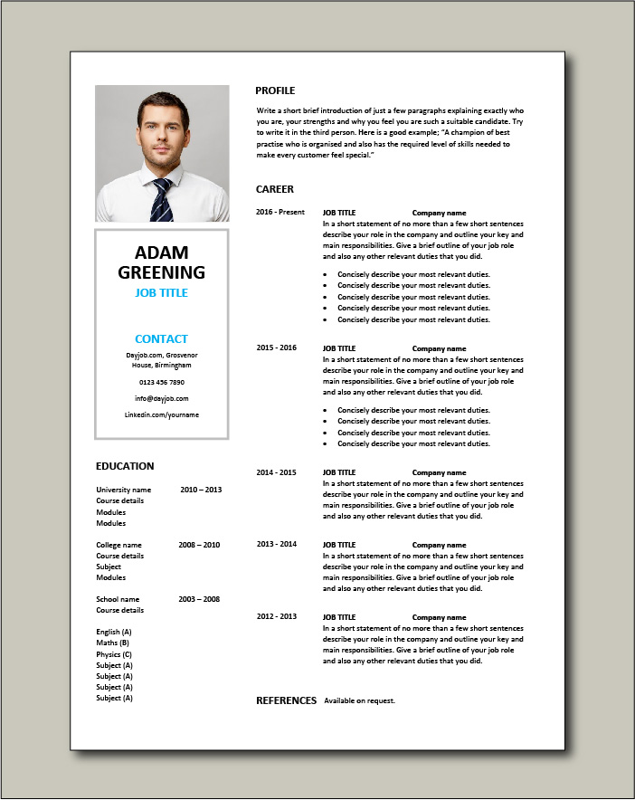 Free CV template 69
