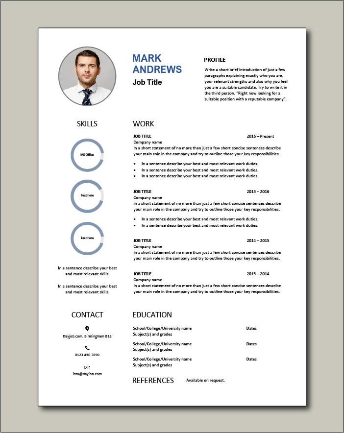 Free CV template 70