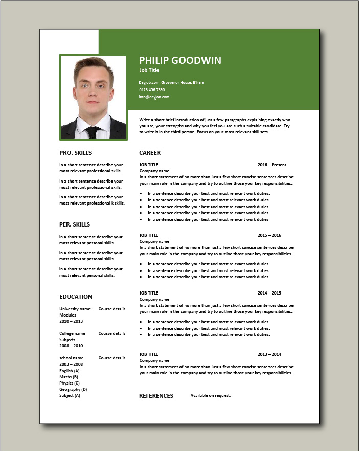 Free CV template 71