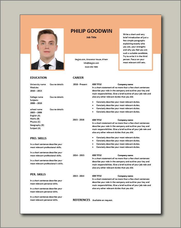 Free CV template 72