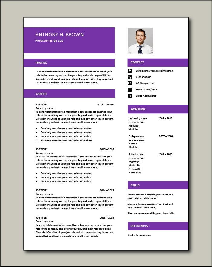 Free CV template 74