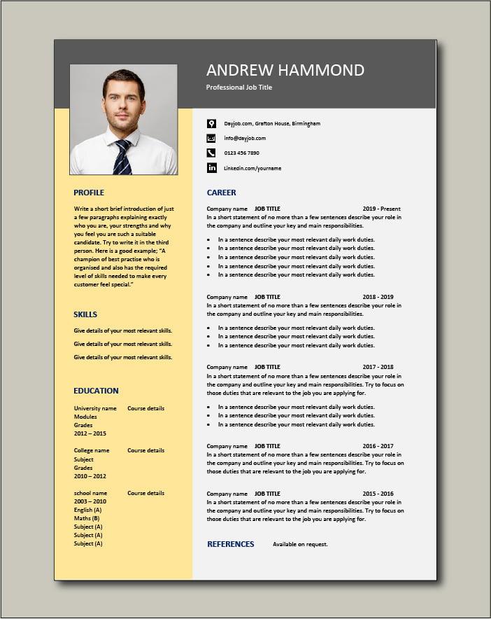 Free CV template 76