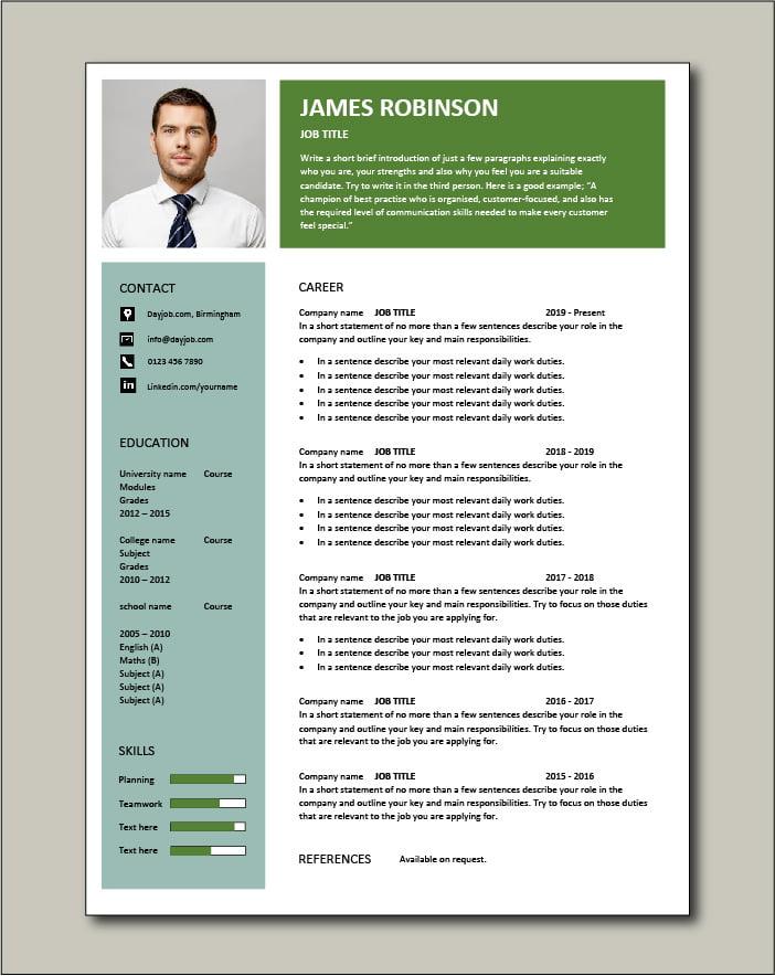 Free CV template 78