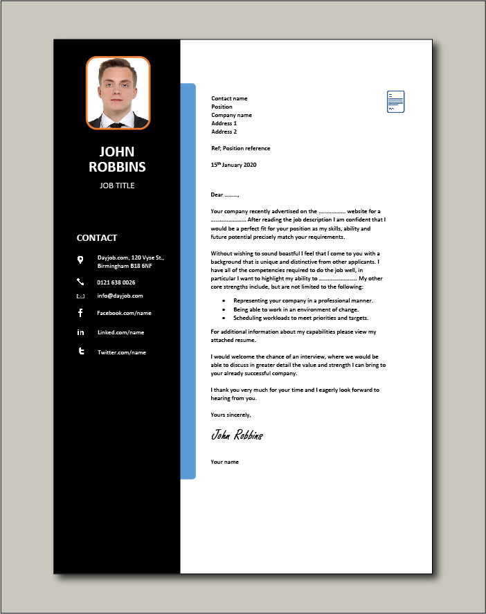Free Cover letter example 41