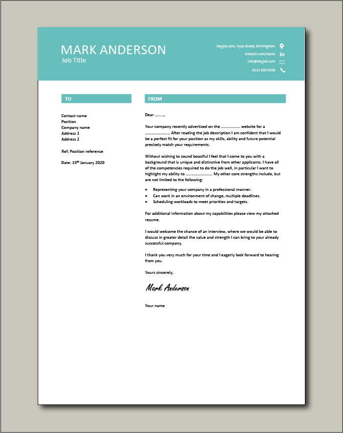 Free Cover letter example 44