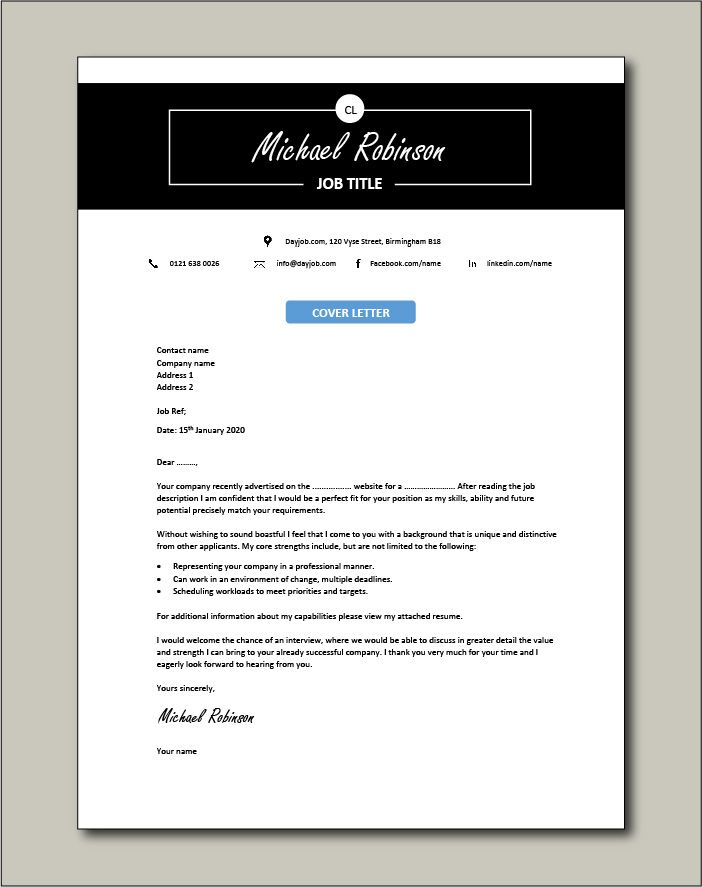 Free Cover letter example 47