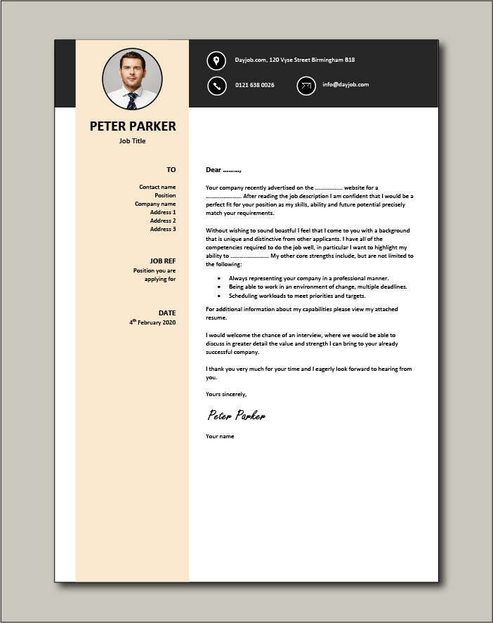 Free Cover letter example 48