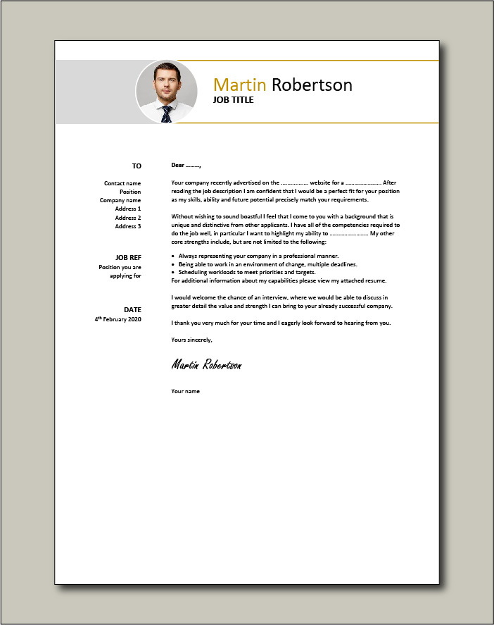 Free Cover letter example 49