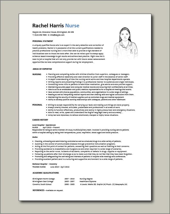 Nurse Template 2 - 1 page