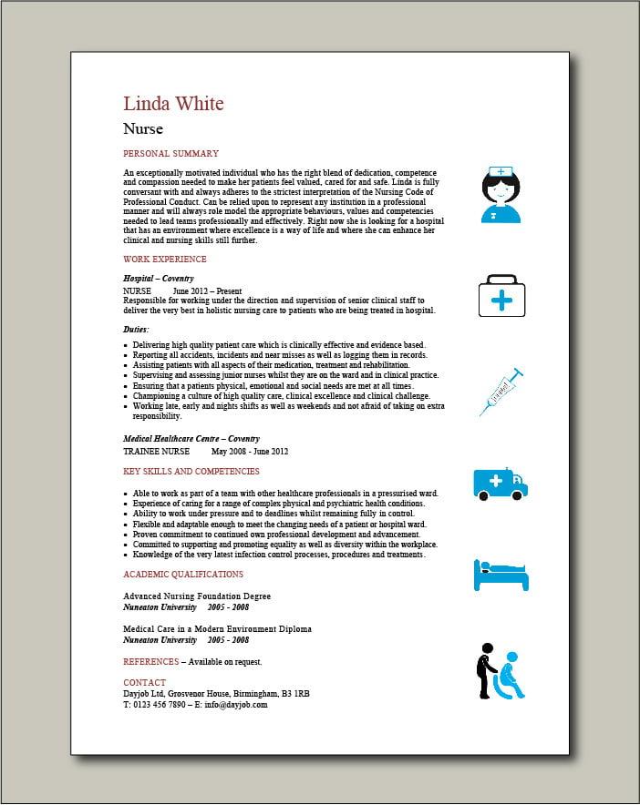 Nurse Template 3 - 1 page