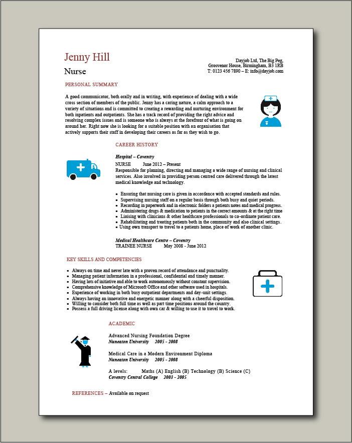 Nurse Template 4 - 1 page