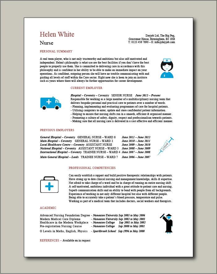 Nurse Template 5 - 1 page