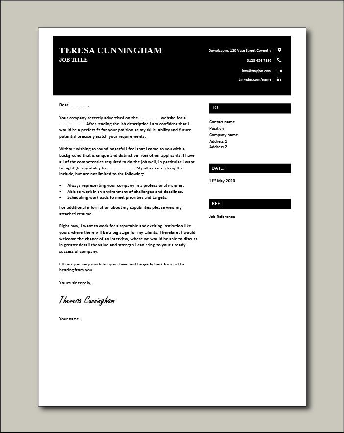 Free Cover letter example 52