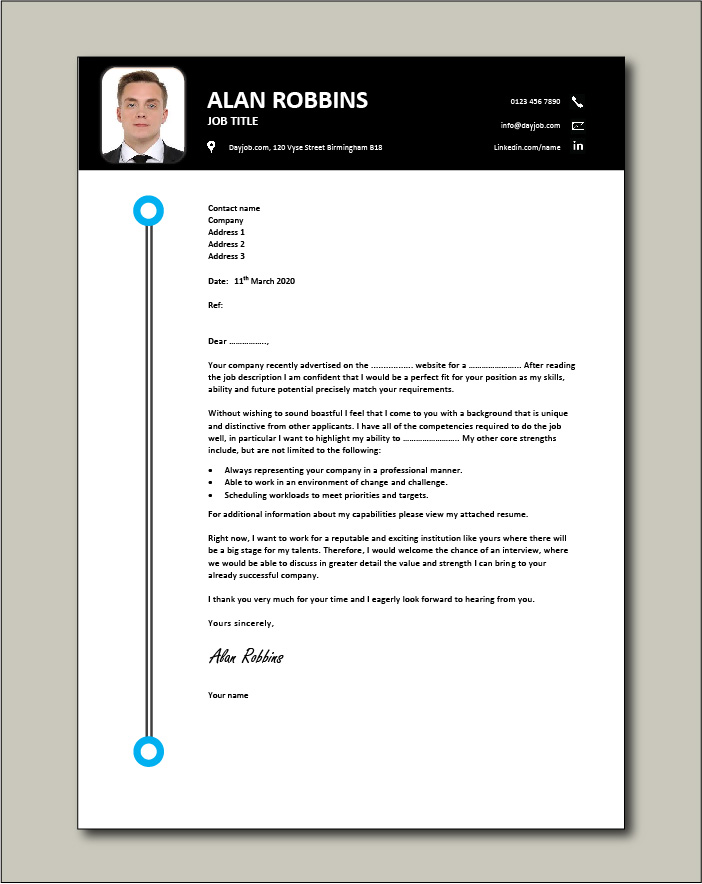 Free Cover Letter Examples Page 2 Templates Modern Download