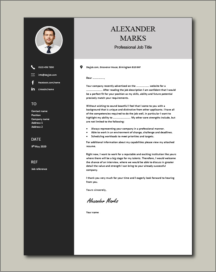 Free Cover letter example 58