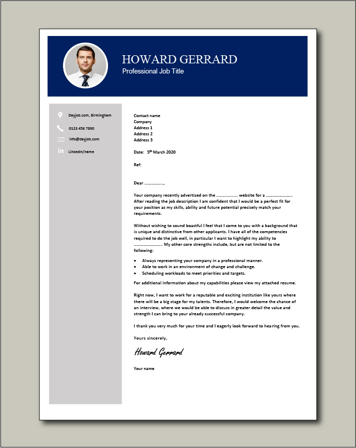 Free Cover letter example 62