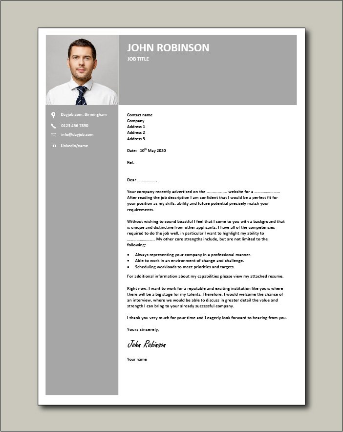 Free Cover letter example 63
