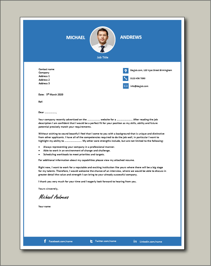 Free Cover letter example 66